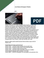 Tombol Keyboard Shortcut Rahasia Di Komputer Windows