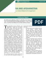 Pakistan and Afghanistan Towards an Ideal Bilateral Arrangement