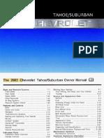 2003 Chevrolet Tahoe Owners