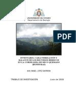 Proyecto Investigacion Hidrogeologica Mico Quemado 2006