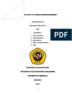 Introduction to Operationsmanagement