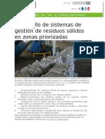 Desarrollo de Sistemas de Gestión de Residuos Sólidos