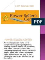 PowerSellersCenter Learning Market Strategies