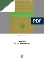 Maritain, Jacques - Primacía de Lo Espiritual