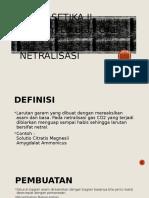 Farmasetika II- Netralisasi