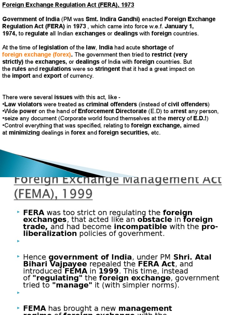 what is fera act