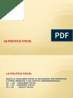 2.1.La Politica Fiscal