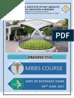 Jipmer Mbbs 2017 Prospectus