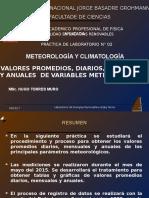 Clase 2 Valores Promedios de Variables Meteorológicas 2015