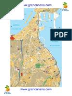 Mapa de Las Palmas de Gran Canaria DinA4