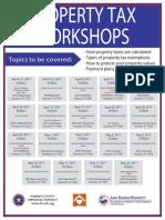 Property Tax Workshop Flyer 2017