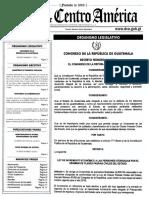 Dto. 11-2016 Ley Incremento Económico a Las Pensiones Otorgadas Por El Régimen de Clases Pasivas Civiles Del Estado
