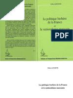 La Politique Berbère de La France Et Le Nationalisme Marocain