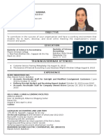 My Resume - Jan Michelle Sabana