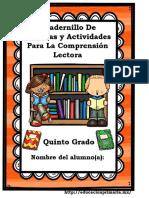 Cuadernillo De Comprensión Lectora 5to