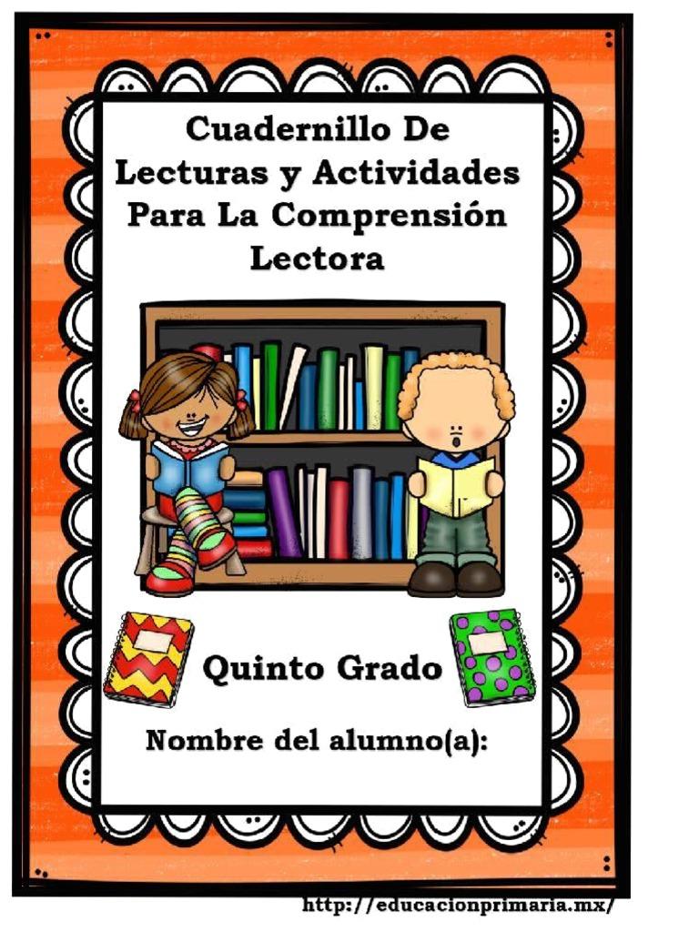 Cuadernillo De Comprensión Lectora 5to 87bfa5c8894