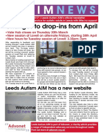 Leeds Autism Aim - Spring 2017 Newsletter - Final - V2