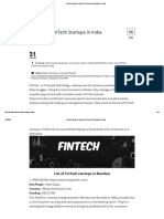 Fintech Startups in India _ List of Fintech Companies in India