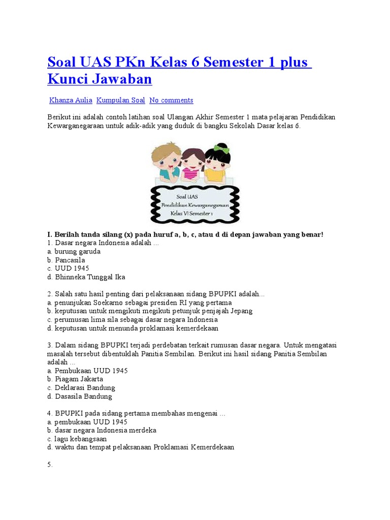 Soal Ukk Ips Kelas Sd Nurul Hidayah Download Lengkap