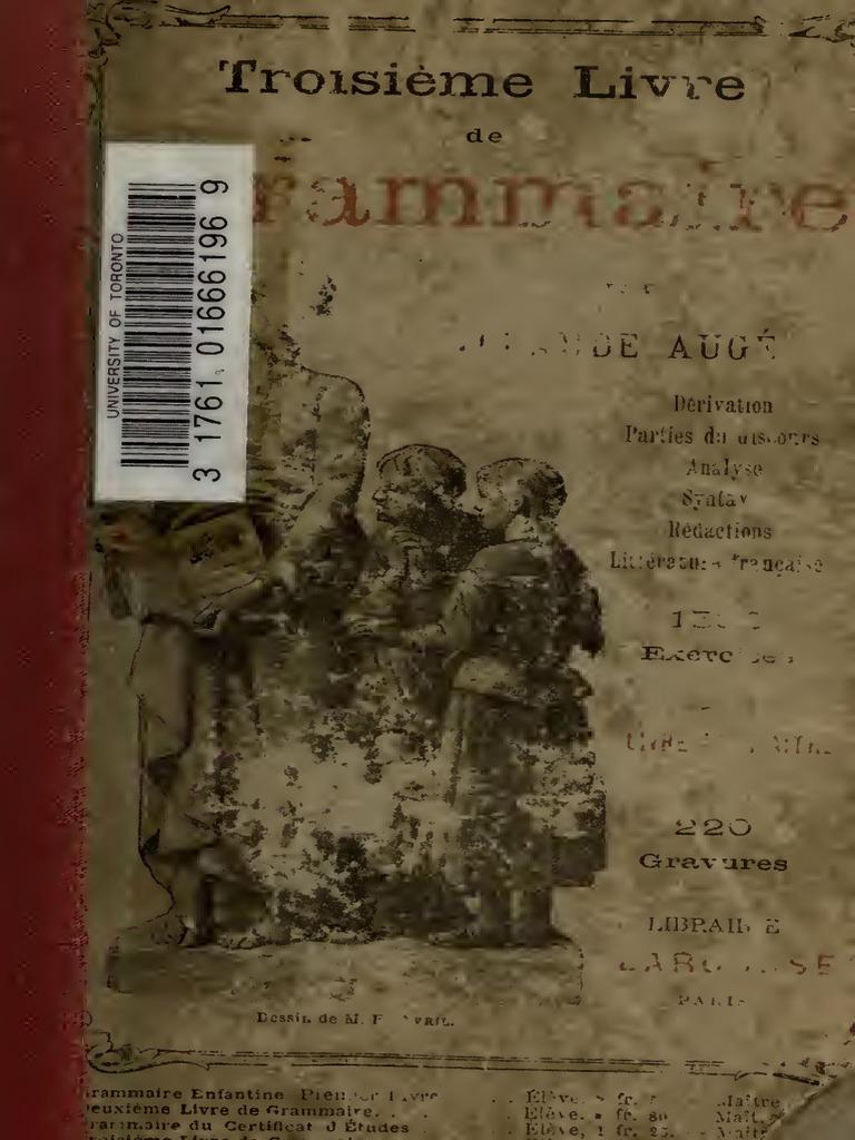 Claude Auge Troisieme Livre de Grammaire LIVRE DU MAITRE a3e4b49f0145