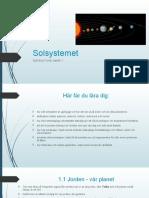Solsystemet Åk 7 Fysik