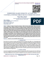 EMBEDDED BASED REMOTE ACCESS AND CONTROL SYSTEM THROUGH 3G COMMUNICATION