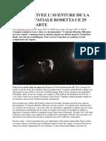 Revivez Aventure Mission Spatiale Rosetta