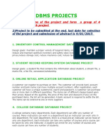 Dbms Projects