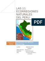 Las 11 Ecorregiones Naturales Del Peru