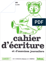 Cahier Decriture Cp n1 Mico Mon Petit