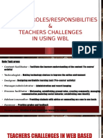 Teachers Roles and Challenges in Wbl