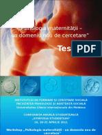 psihologie maternitatii