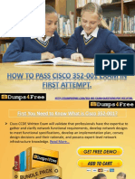 Cisco CCDE 352-001 Braindumps Available on Dumps4free