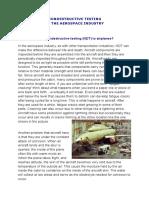 Nondestructive Testing Airplane Test