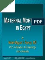 Maternal Mortality Egypt Ramzy 2007
