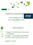 JunOS as a Second Language