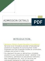 Admission Details Ppt