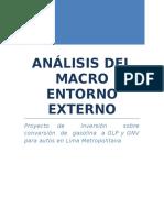 Análisis Del Macro Entorno Externo
