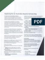 Australia Scholarship Award 2018