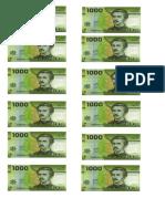 Billetes de 1000