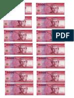 Billetes de 5000