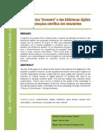 """Utilização dos """"browsers"""" e das bibliotecas digitais na pesquisa científica dos alunos"""