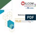 TrueSizerPro Reference Manual