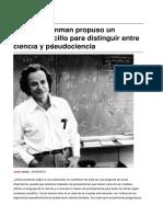 Sinpermiso-richard Feynman Propuso Un Metodo Sencillo Para Distinguir Entre Ciencia y Pseudociencia-2016!10!02