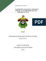 Muhammad Mubarak c.p- b11113071 (Surat Kuasa Khusus, Gugatan, Jawaban, Replik, Duplik, & Intervensi Dalam Peradilan Tun)