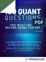 100 Quant Questions