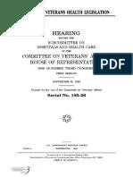 HOUSE HEARING, 103TH CONGRESS - PROPOSED VETERANS HEALTH LEGISLATION