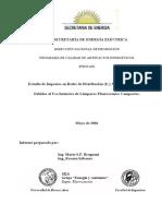 Estudio de Impactos de Redes de Distribucion