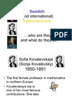 Mathematicians by JANA HILDING