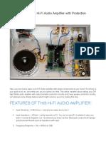 50W DIY Hi-Fi Audio Amplifier